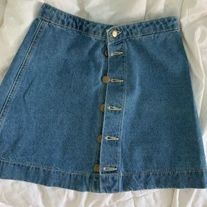 American Apparel denim button skirt, perfect cond